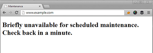 briefly unavailable errore