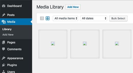 immagini mancanti wordpress