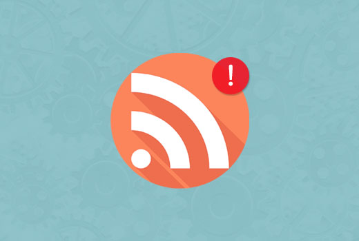 wordpress rss errori