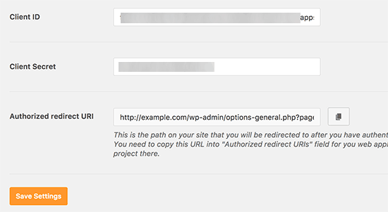 chiave segreta plugin smtp wordpress