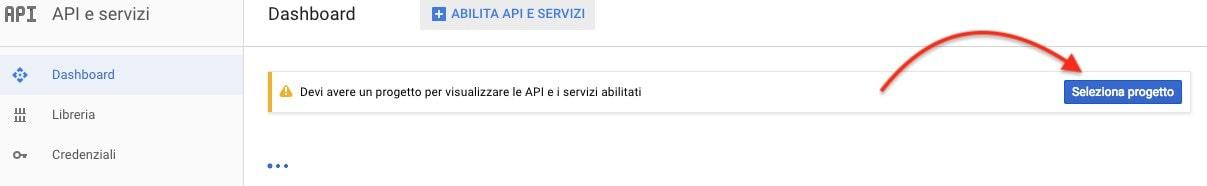 google api seleziona