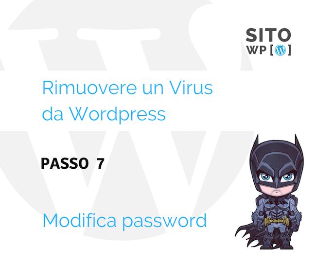 Modifica password WordPress