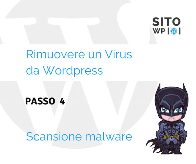 Scansione rimozione malware