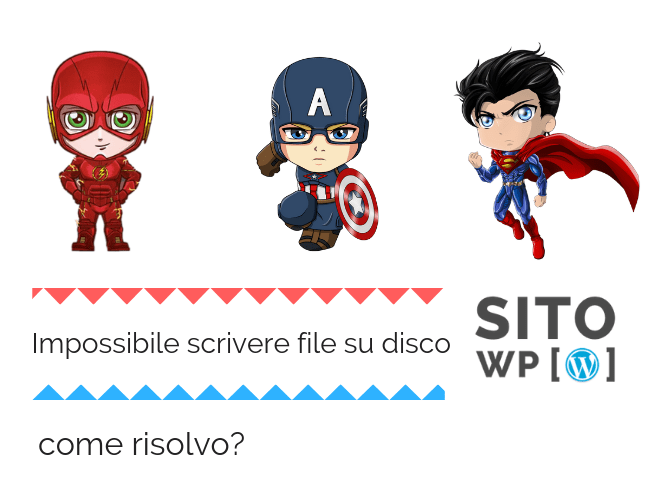 impossibile scrivere file su disco wp