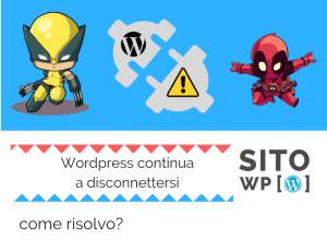 Errore Wordpress disconnettersi