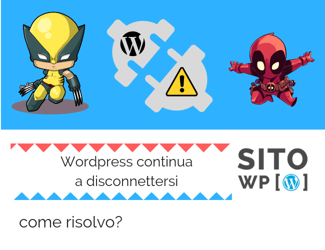 Errore Wordpress disconnettersi