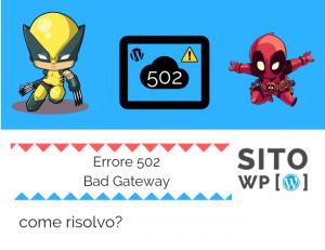 correggere errore 502