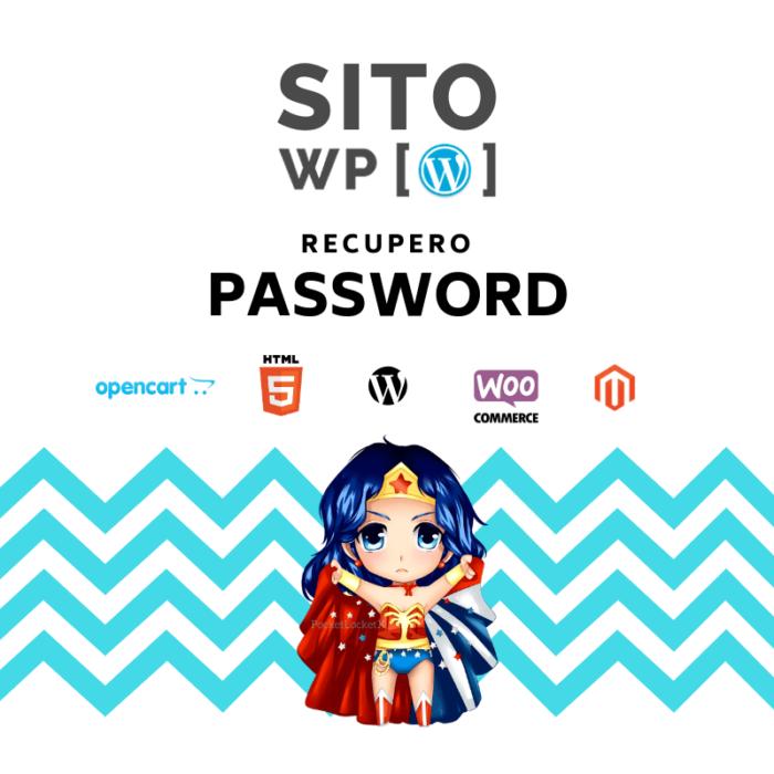 recupero password wordpress
