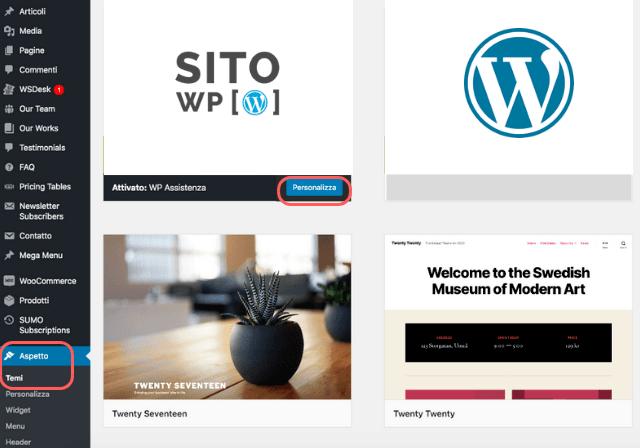 Tema WordPress Attivo